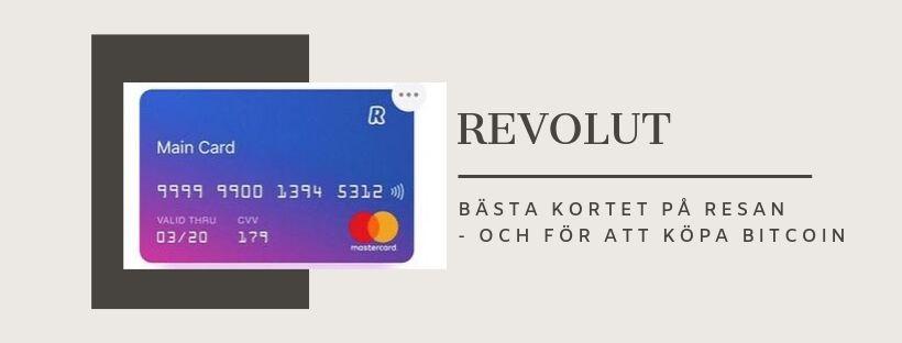 Enklaste sättet att köpa Bitcoin – Revolut kortet